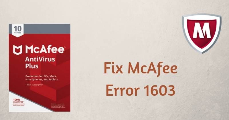 McAfee Installation Error