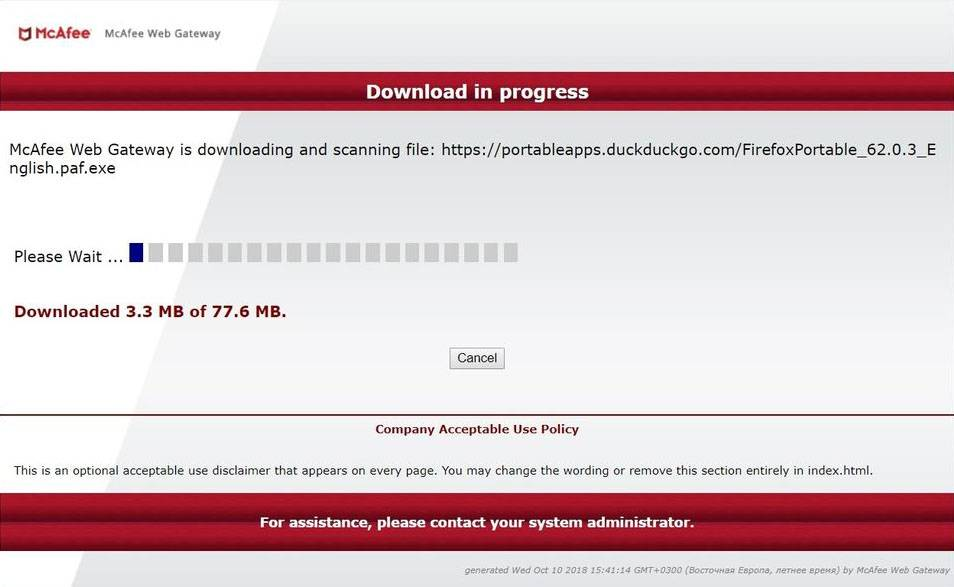 McAfee Download Process
