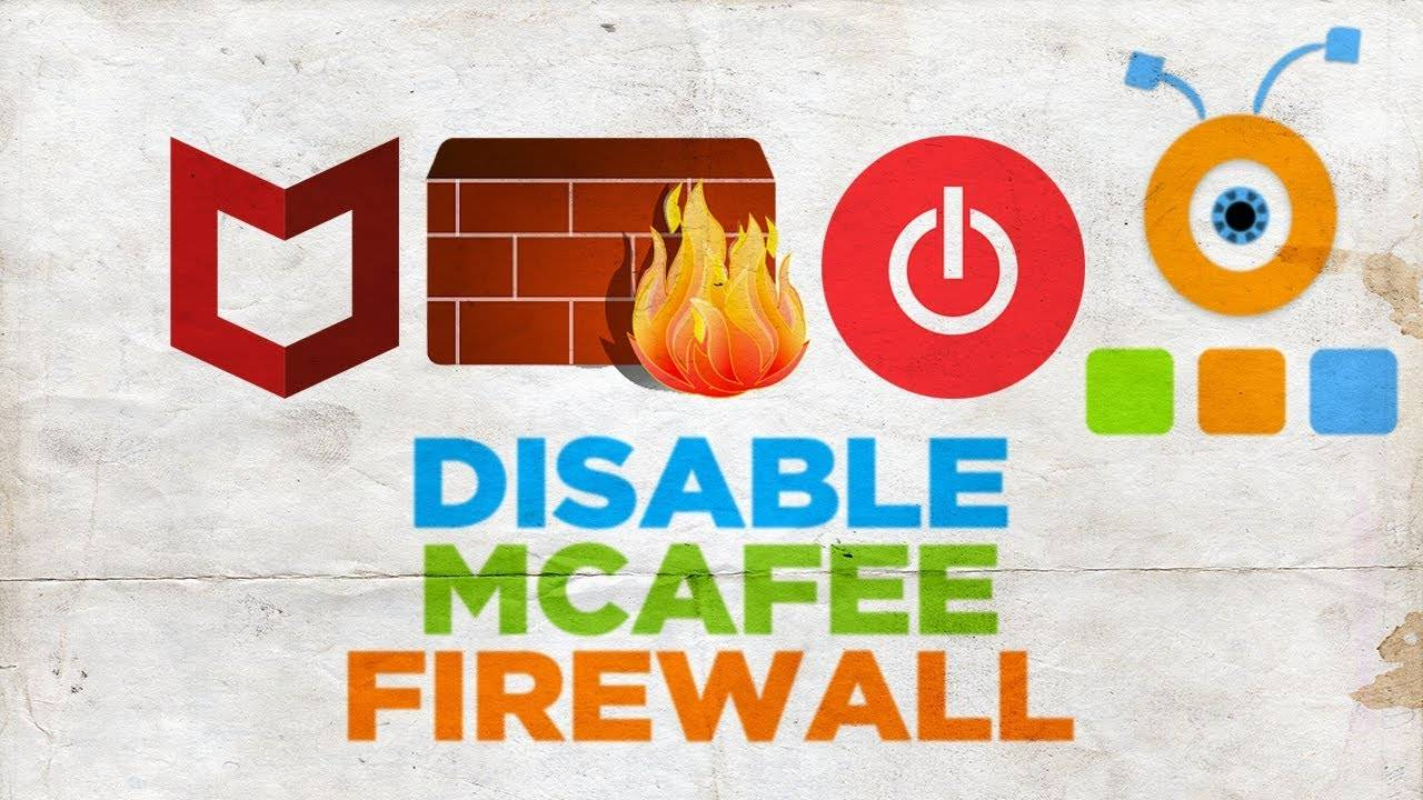 Enable and Disable McAfee Firewall