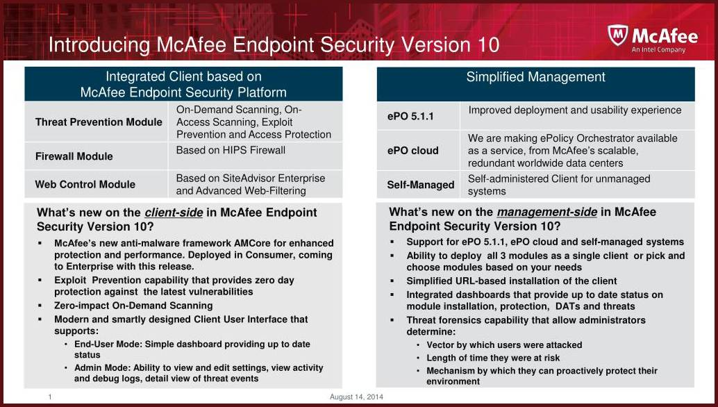 McAfee Endpoint Security Solutions
