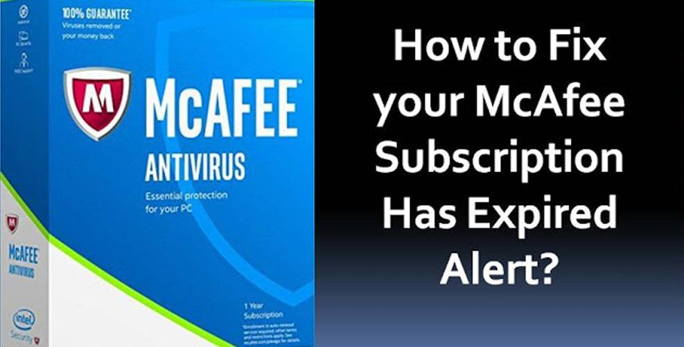 McAfee Subscription Has Expired
