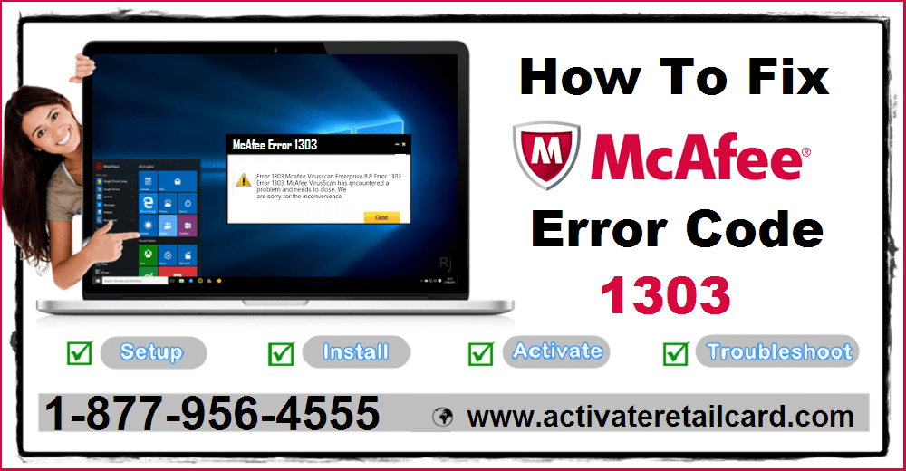 How To Fix McAfee Error Code 1303 Permanently By Yourself